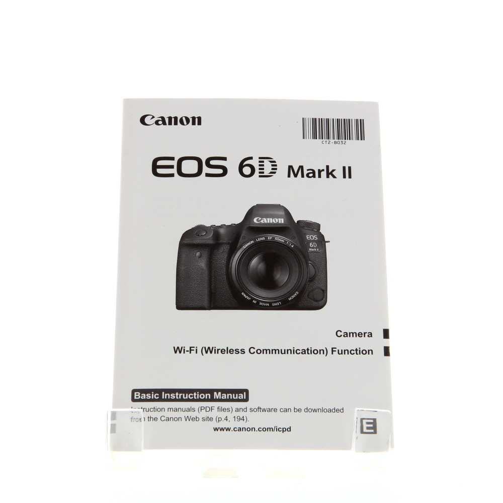 Canon EOS 6D Mark II Basic Instructions
