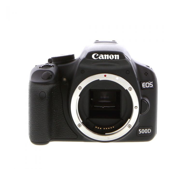 Canon EOS 500D Black (Euro Rebel T1I) Digital SLR Camera Body {15.1 M/P}