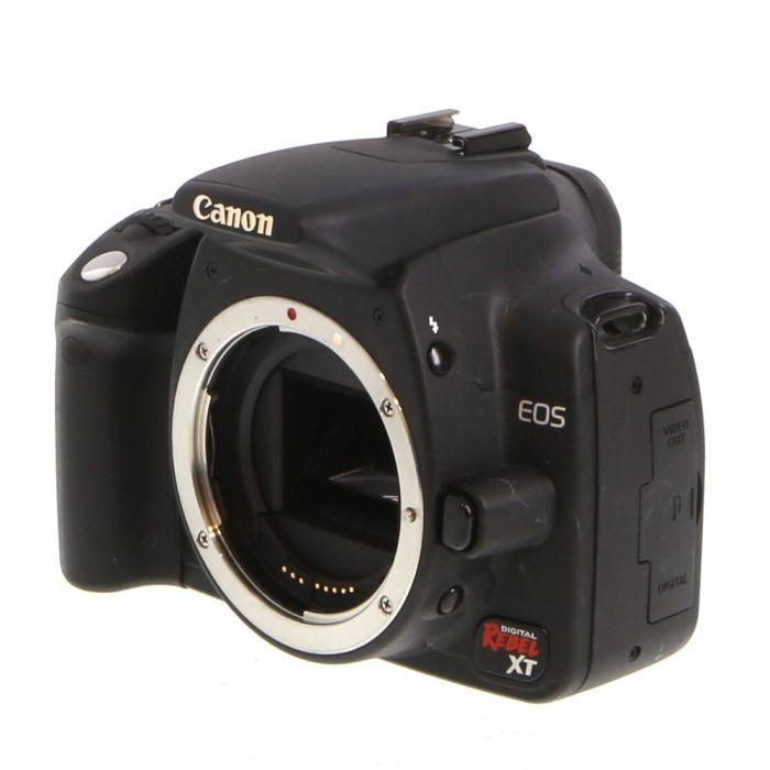 Canon EOS Rebel XT DSLR Camera Body, Black {8MP}