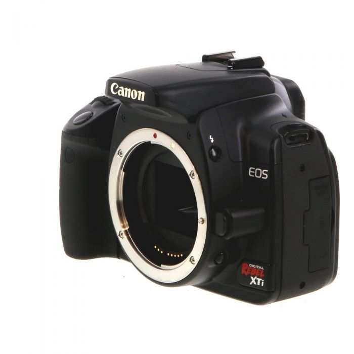 Canon EOS Rebel XTI DSLR Camera Body, Black {10.1MP}