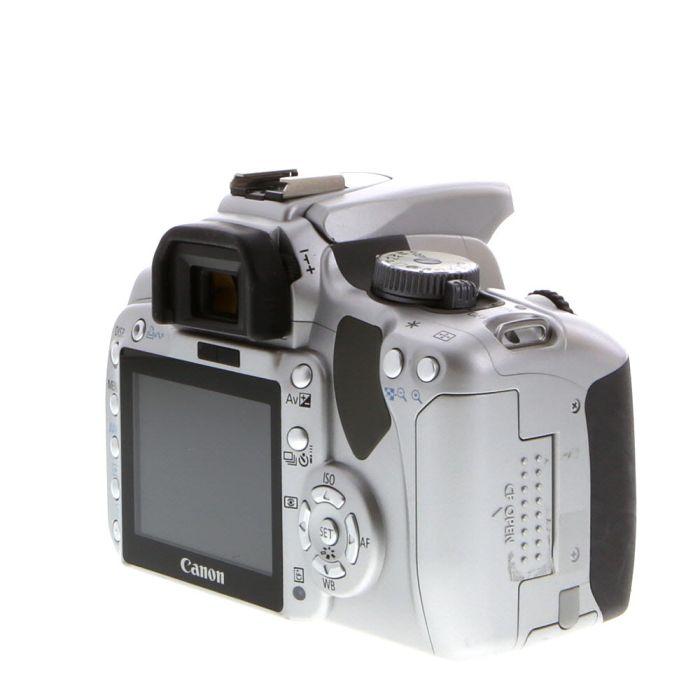 Canon EOS Rebel XTI DSLR Camera Body, Silver {10.1MP}
