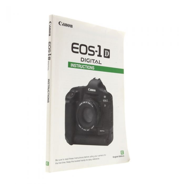 Canon EOS 1D Instructions