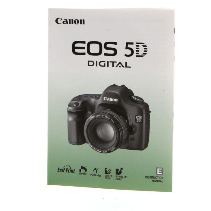 Canon EOS 5D Instructions