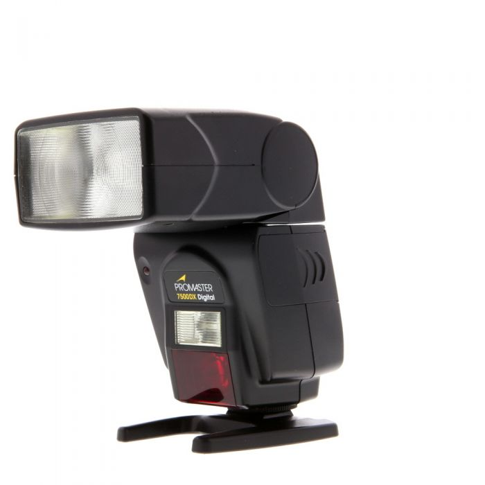 Promaster 7500DX Flash For Canon EOS E-TTL [GN138] {Bounce, Swivel, Zoom}