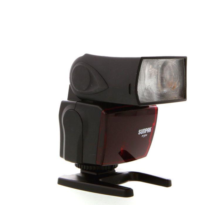 Sunpak PF30X Flash For Canon EOS E-TTL II [GN100] {Bounce}