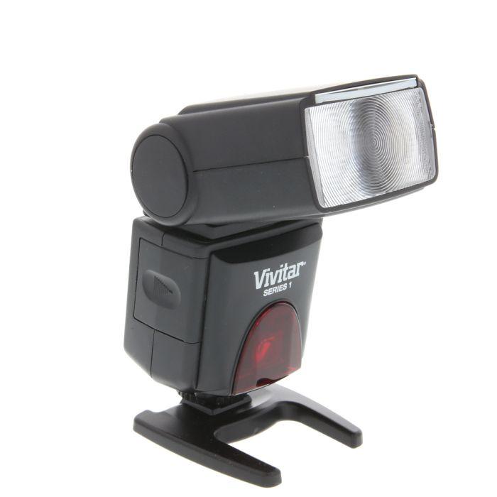Vivitar DF-383 Series 1 , Swivel, Slave Flash For Canon EOS E-TTL [GN130] {Bounce, Zoom}