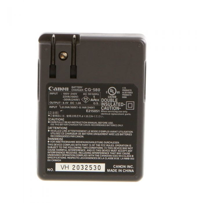Canon Battery Charger CG-580 (BP-511,512)