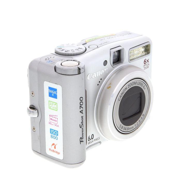 Canon Powershot A700 Digital Camera {6.0 M/P}