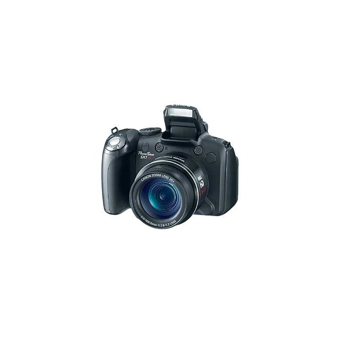 Canon Powershot SX1 IS Digital Camera, Black {10 M/P}