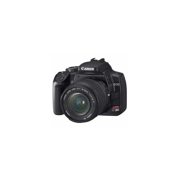 Canon EOS Rebel XTI Digital Camera, Black, With EF-S 18-55mm f/3.5-5.6 II Lens {10.1 M/P}