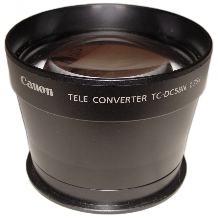 Canon TC-DC58N 1.75X Teleconverter Lens for Powershot A610, 620, 630, 640, G3, G5, G6 (Requires Adapter)