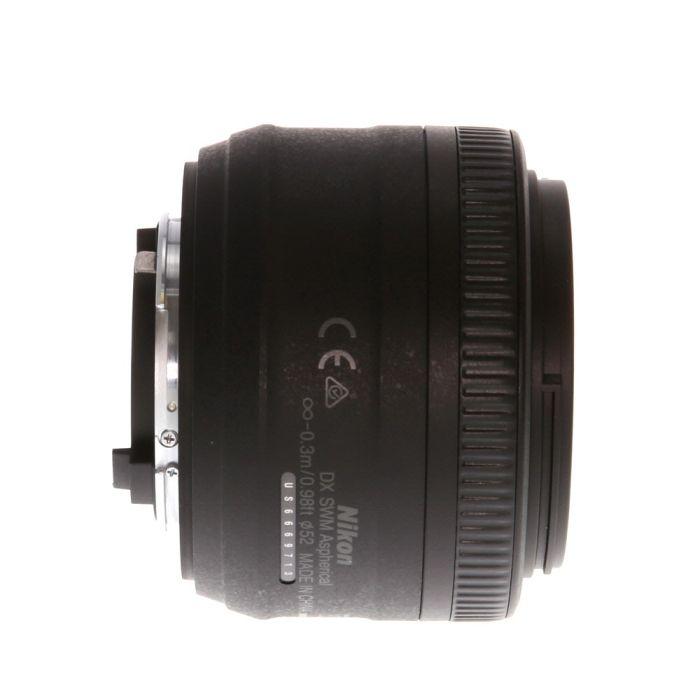 Nikon AF-S DX Nikkor 35mm f/1.8 G Autofocus Lens for APS-C Sensor DSLR, Black {52}