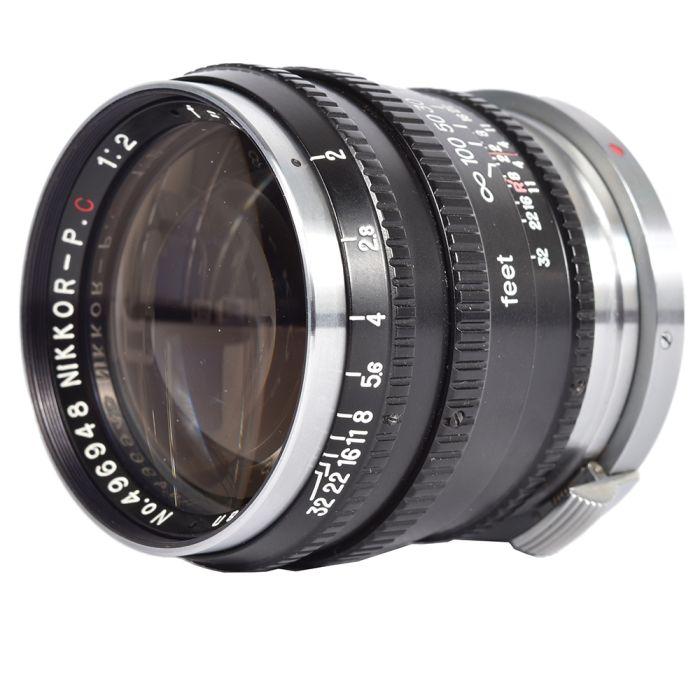 Nikon 8.5cm (85mm) f/2 Nikkor-P.C Nippon Kogaku Japan Lens for Rangefinder, Black/Chrome {48}