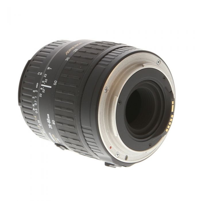 Sigma 28-80mm F/3.5-5.6 Aspherical Lens For Canon EF Mount {55}
