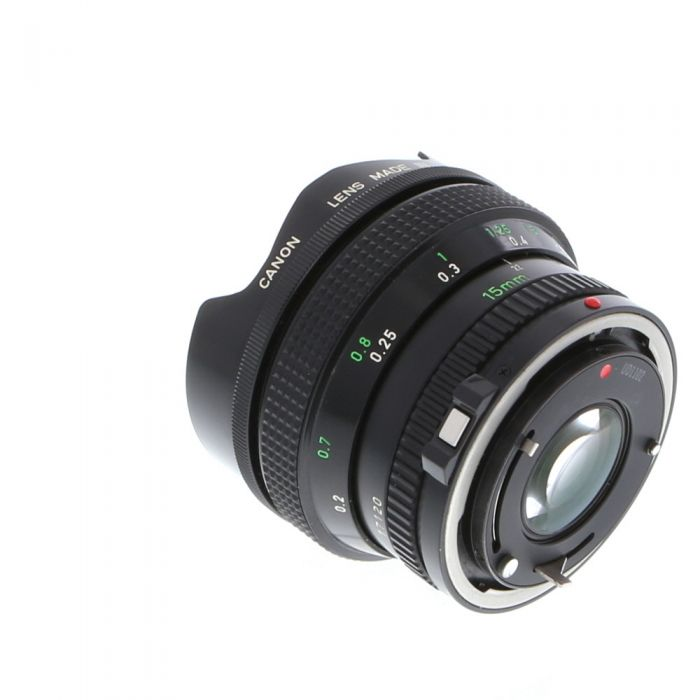 Canon 15mm F/2.8 Fisheye FD Mount Lens {Built-In Filters}