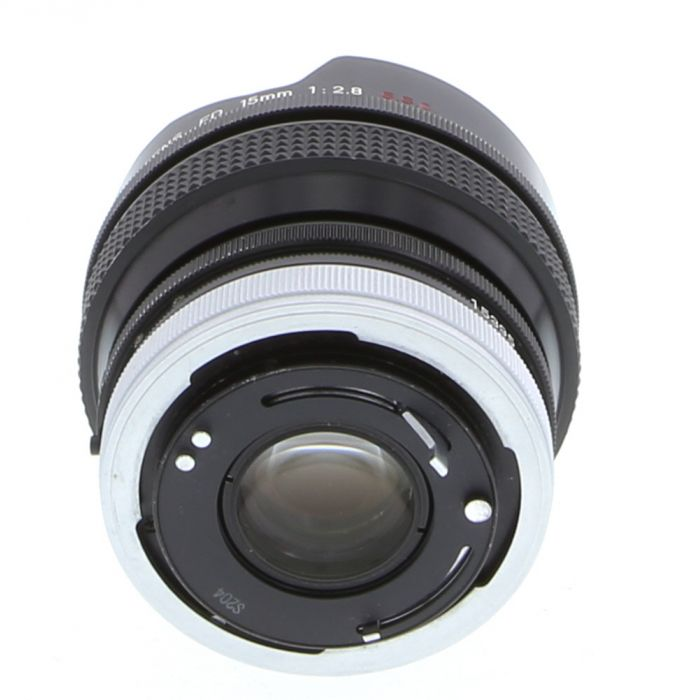 Canon 15mm F/2.8 Fisheye SSC Breech Lock FD Mount Lens {Built-In Filters}