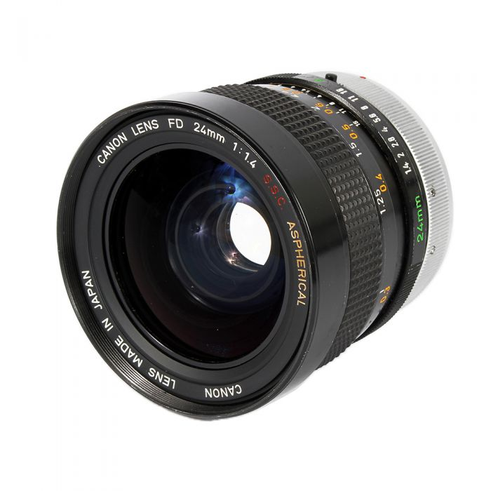 Canon 24mm f/1.4 SSC Aspherical Breech Lock FD Mount Lens {72}