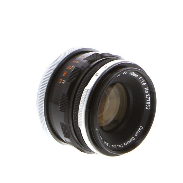 Canon 50mm F/1.8 Breech Lock FL Mount Lens {48}