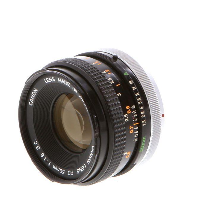 Canon 50mm F/1.8 SC Breech Lock FD Mount Lens {55}