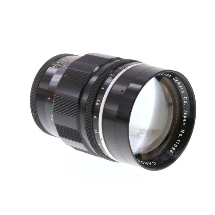 Canon 100mm f/2 Late Lens for Rangefinder Camera, Black {58}