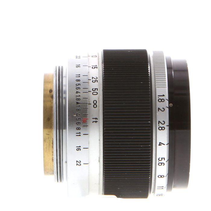 Canon 50mm F/1.8 Black/Chrome Lens For Rangefinder Cameras {40}