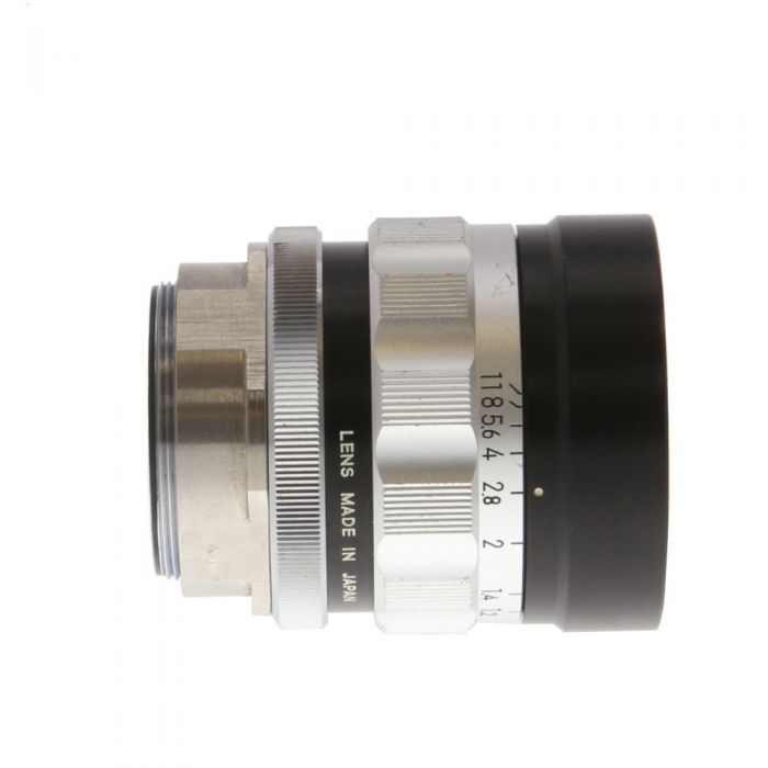 Nikon Nikkor 55mm f/1.2 O Lens with M39 Thread Mount, Black/Chrome (Optimum 1:5 Magnification) (Bellows Only)