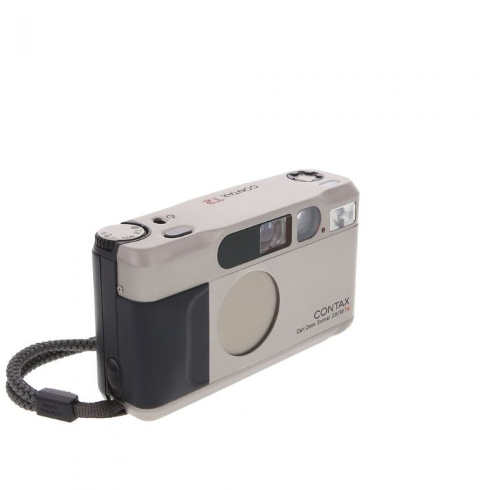 Contax T2 35mm Camera, Champagne Silver