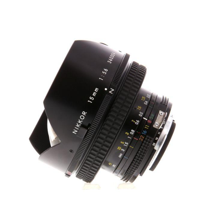 Nikon Nikkor 15mm f/5.6 AI Manual Focus Lens {Built-In Filter}