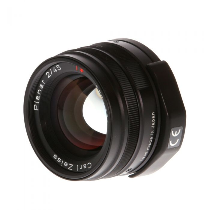 Contax 45mm f/2 Carl Zeiss Planar T* Lens For Contax G System, Black {46}