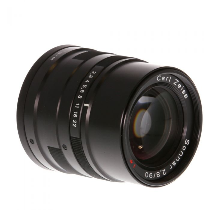 Contax 90mm f/2.8 Carl Zeiss Sonnar T* Lens For Contax G System, Black {46}