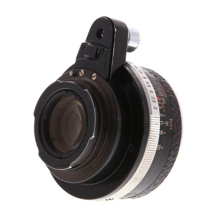 Zeiss Jena 50mm f/2 Pancolar Lens for Exakta Mount, Black/Chrome {49}