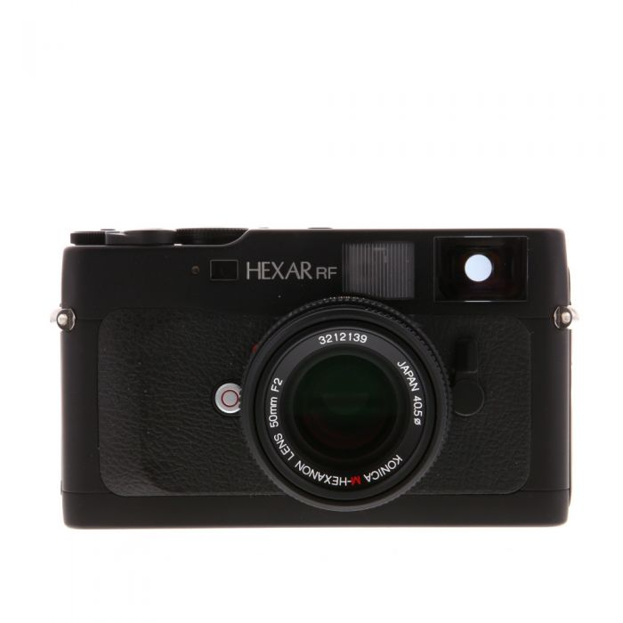 Konica Hexar RF Camera, Black, with 50mm f/2 M-Hexanon Lens