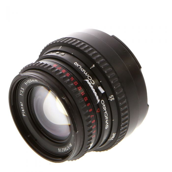 Hasselblad 100mm F/3.5 C T* Black Lens For Hasselblad 500 Series (V System) {Bayonet 50}