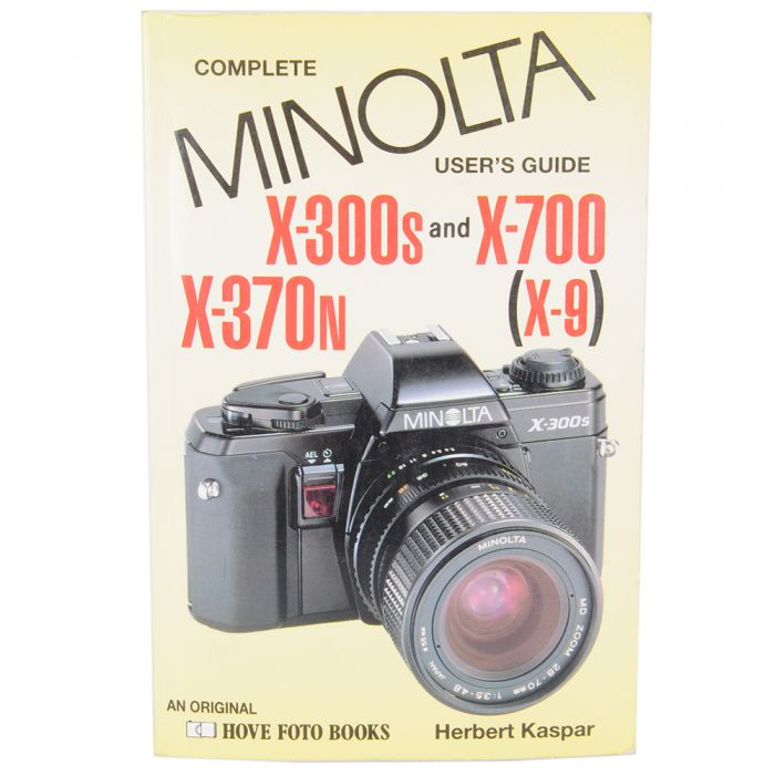 Minolta Complete User' S Guide To X-300S,X-370N,X-700,X-9,1993, Soft Cover, 159 Pages