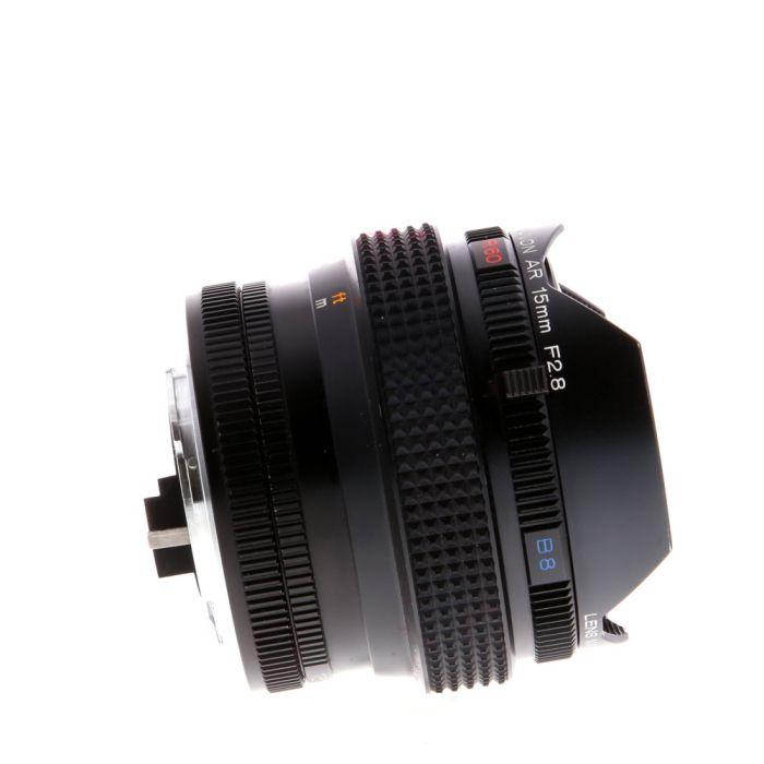 Konica 15mm f/2.8 Hexanon Fisheye AE UC AR Mount Lens {Built-in Filters}
