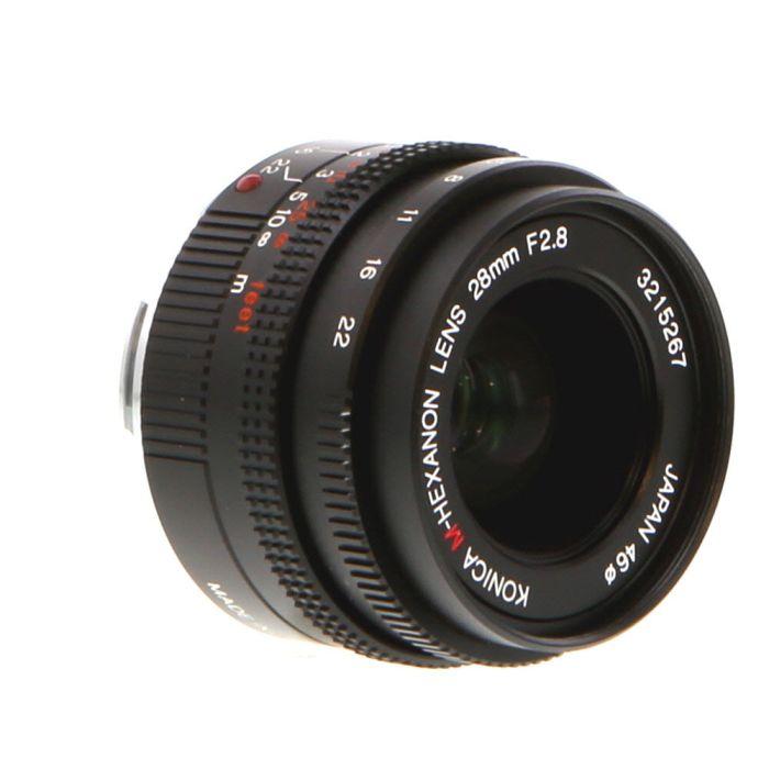 Konica 28mm F/2.8 M-Hexanon Lens For Hexar RF {46}
