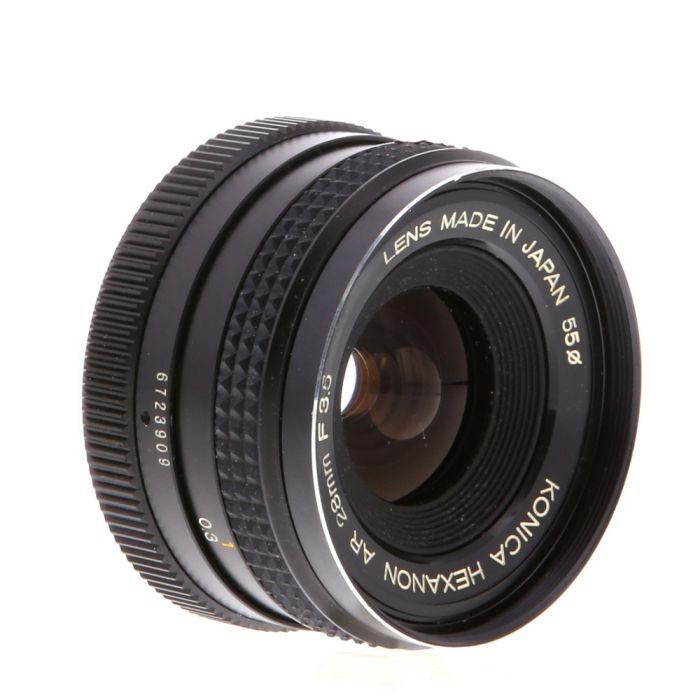 Konica 28mm F/3.5 Hexanon AE (F/22) AR Mount Lens {55}
