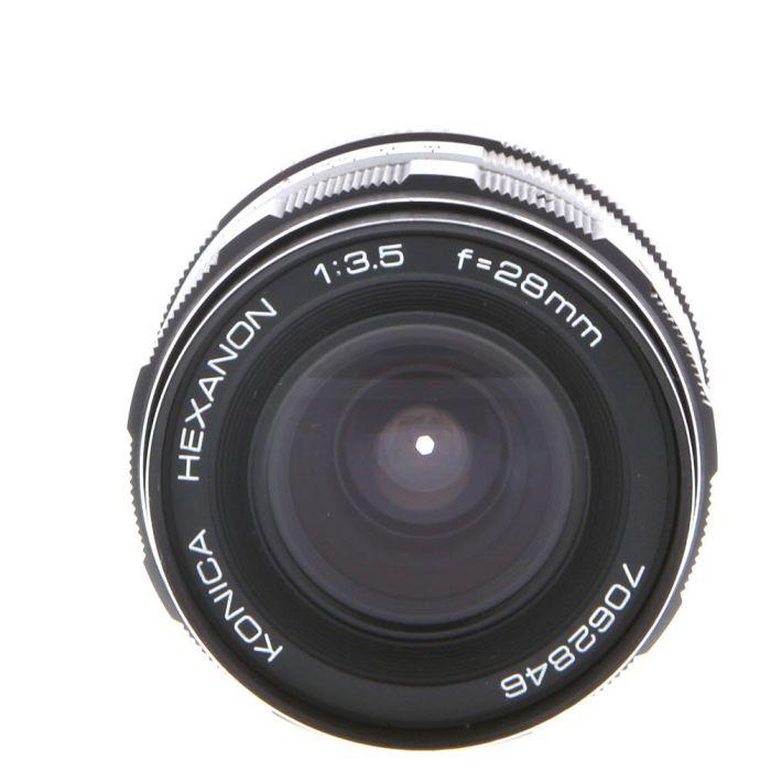 Konica 28mm F/3.5 Hexanon EE Lens {55}