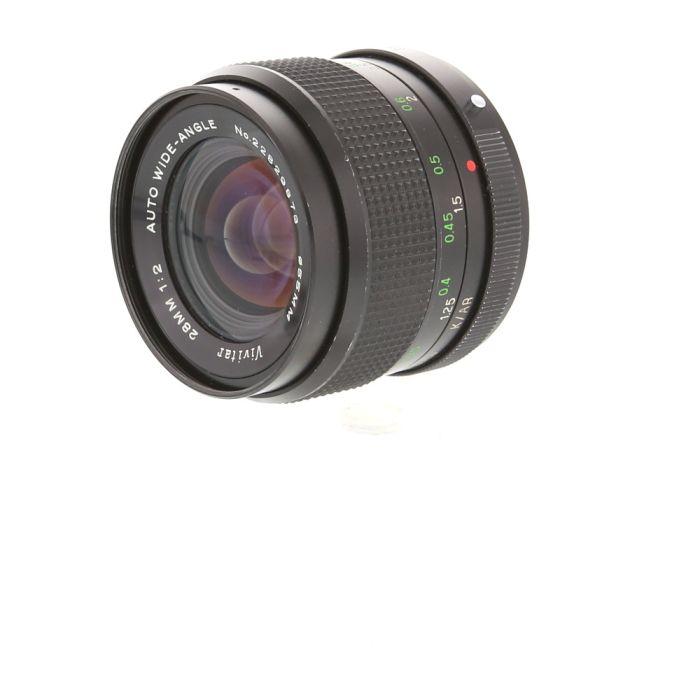 Vivitar 28mm f/2 Auto EE Lens For Konica {55}