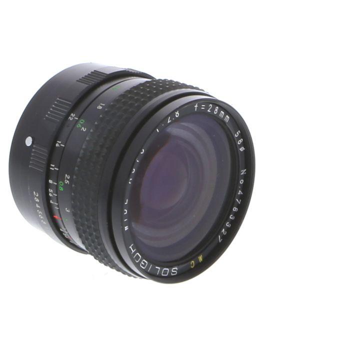 Soligor 28mm F/2.8 Lens For Konica {58}
