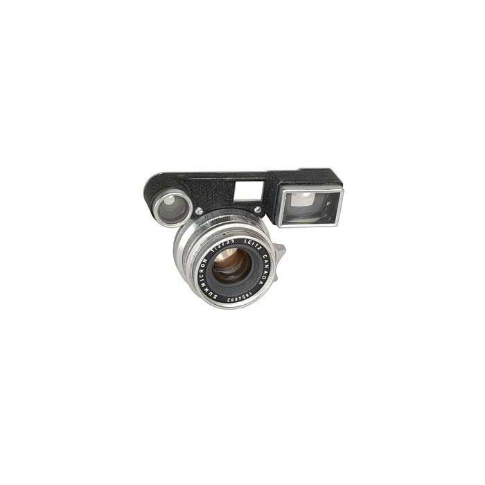 Leica 35mm f/2 Summicron M-Mount Lens, Chrome {39} 11108 with Rangefinder Optics