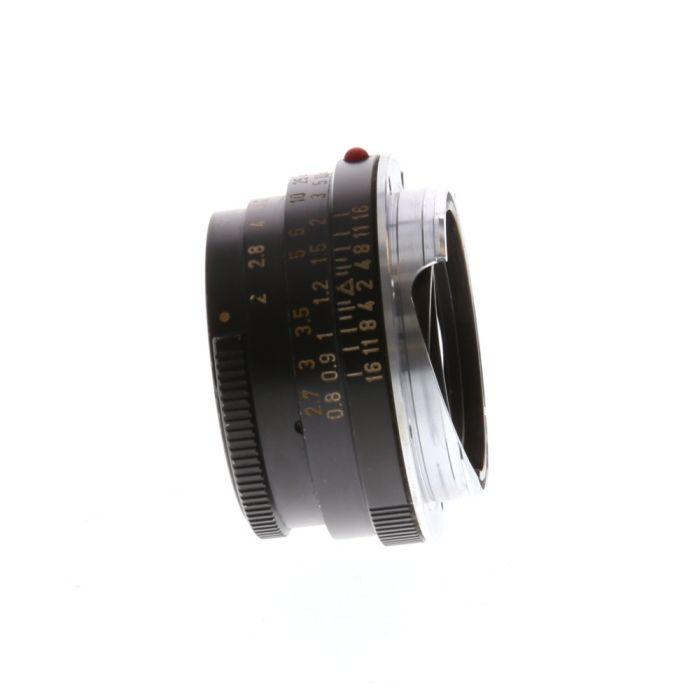 Leica 40mm f/2 Summicron-C Wetzlar M-Mount Lens. Black {Series 5.5}