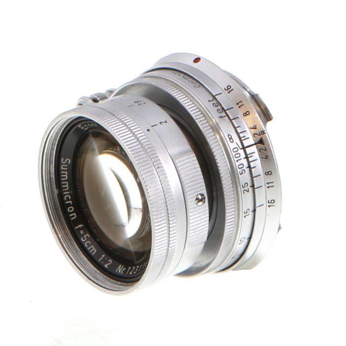 Leica 5cm (50mm) f/2 Summicron Collapsible M-Mount Lens, Chrome {39}