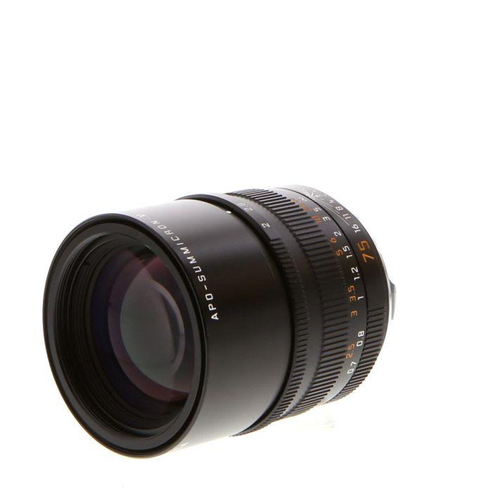 Leica 75mm f/2 Summicron-M APO Aspherical 6-Bit M-Mount Lens, Germany, Black {E49} (11637)