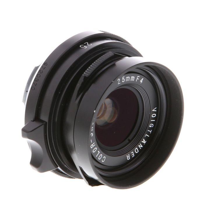 Voigtlander 25mm f/4 Color-Skopar Leica M-Mount Lens, Black {39}