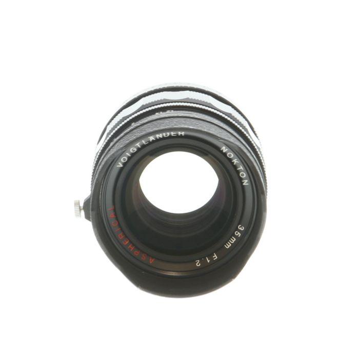 Voigtlander 35mm f/1.2 Nokton Aspherical (Version I, Takes Clamp-on or Screw Mount Hood) Leica M-Mount Lens, Black {52}