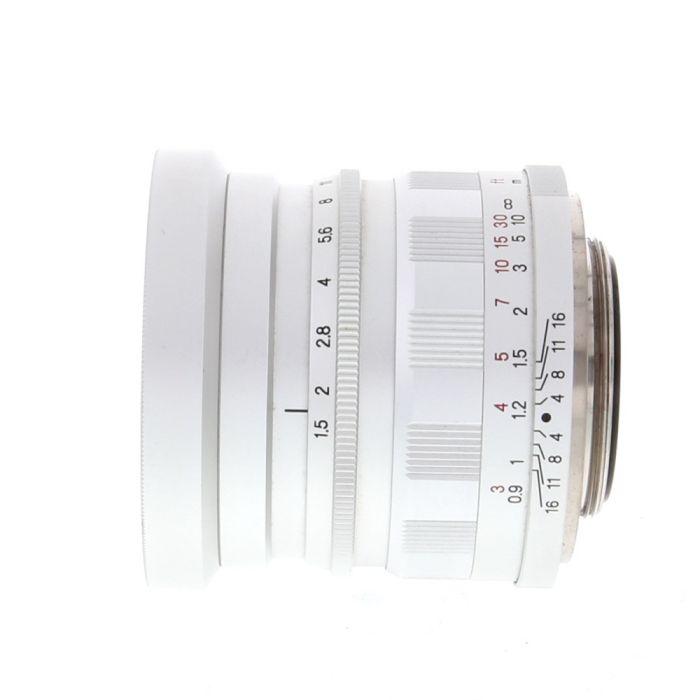 Voigtlander 50mm F/1.5 Nokton Aspherical Chrome Lens For Leica Screw Mount {52}