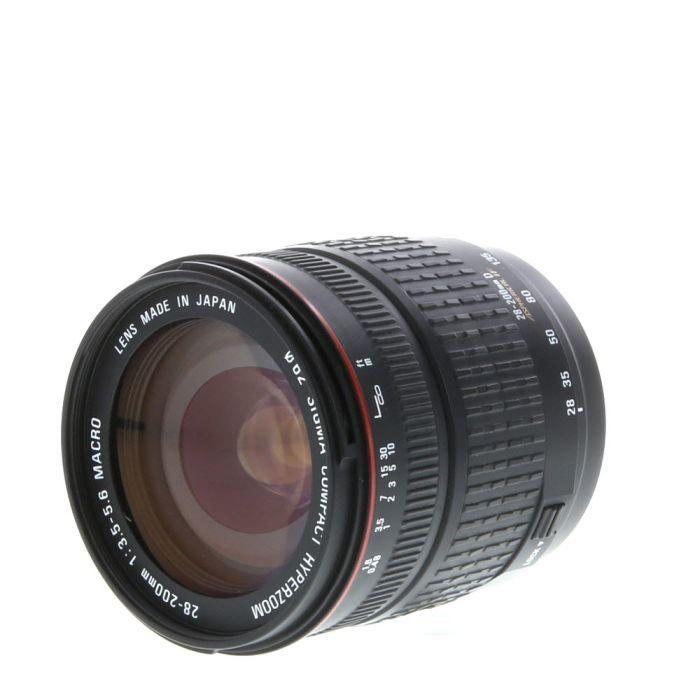 Sigma 28-200mm F/3.5-5.6 Aspherical Macro D Compact Hyperzoom IF Autofocus Lens For Minolta Alpha Mount {62}