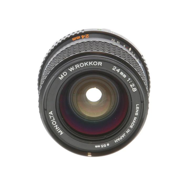 Minolta 24mm F/2.8 W. Rokkor MD Mount Manual Focus Lens {55}