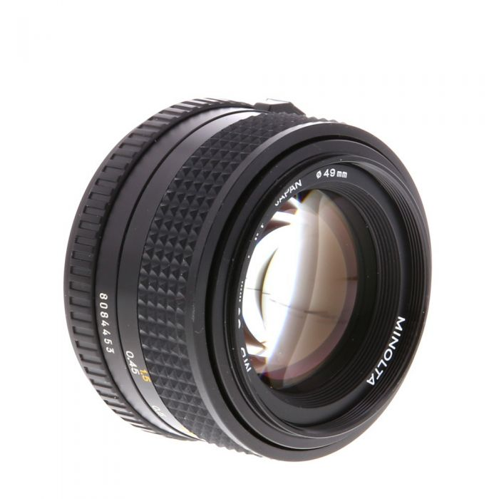 Minolta 50mm F/1.4 MD Mount Manual Focus Lens {49}